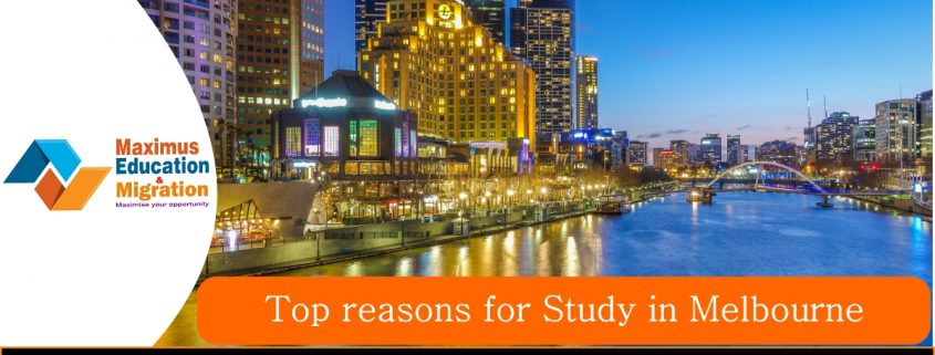 Top reasons for study in Melbourne